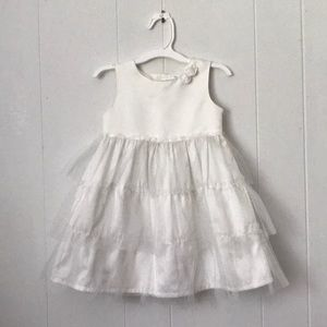 Carters White special occasion little girls dress